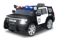 Police SUV Chevy Tahoe 6V Kids Ride On Electrc Car