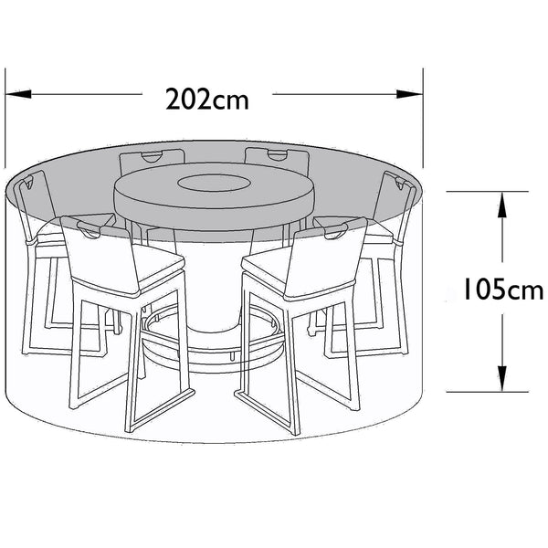Pre-Order: Outdoor Cover for 6 Seat Bar Set - TALOR Garden Furniture
