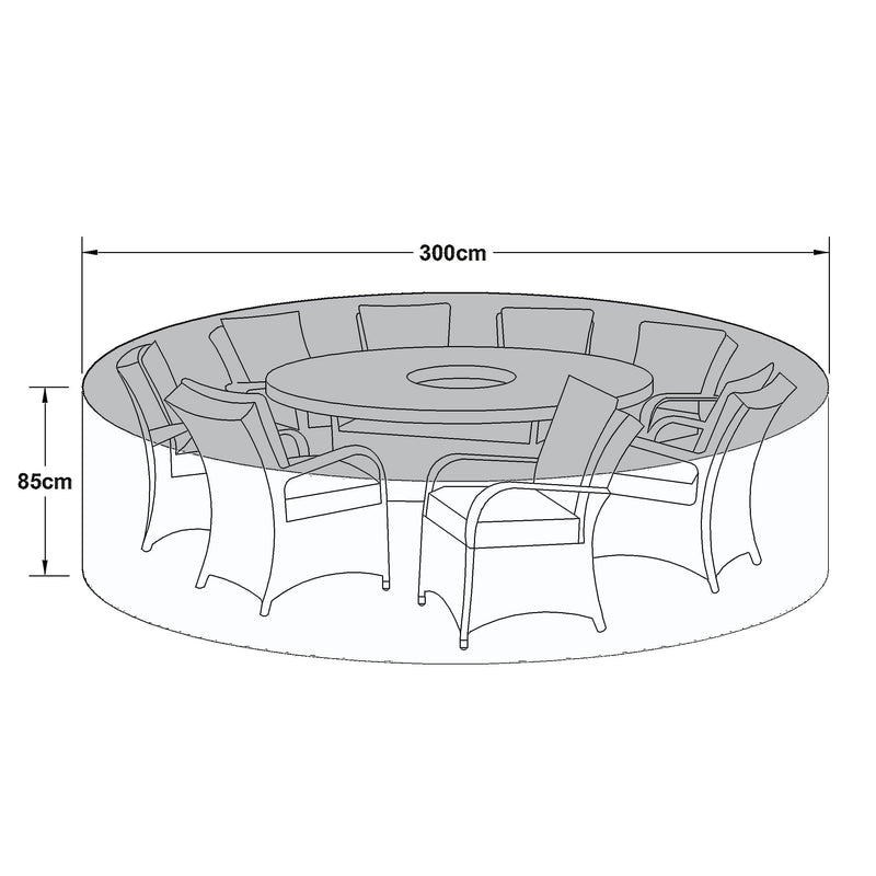 Pre-Order: Outdoor Cover for 8 Seat Round Dining Set - TALOR Garden Furniture