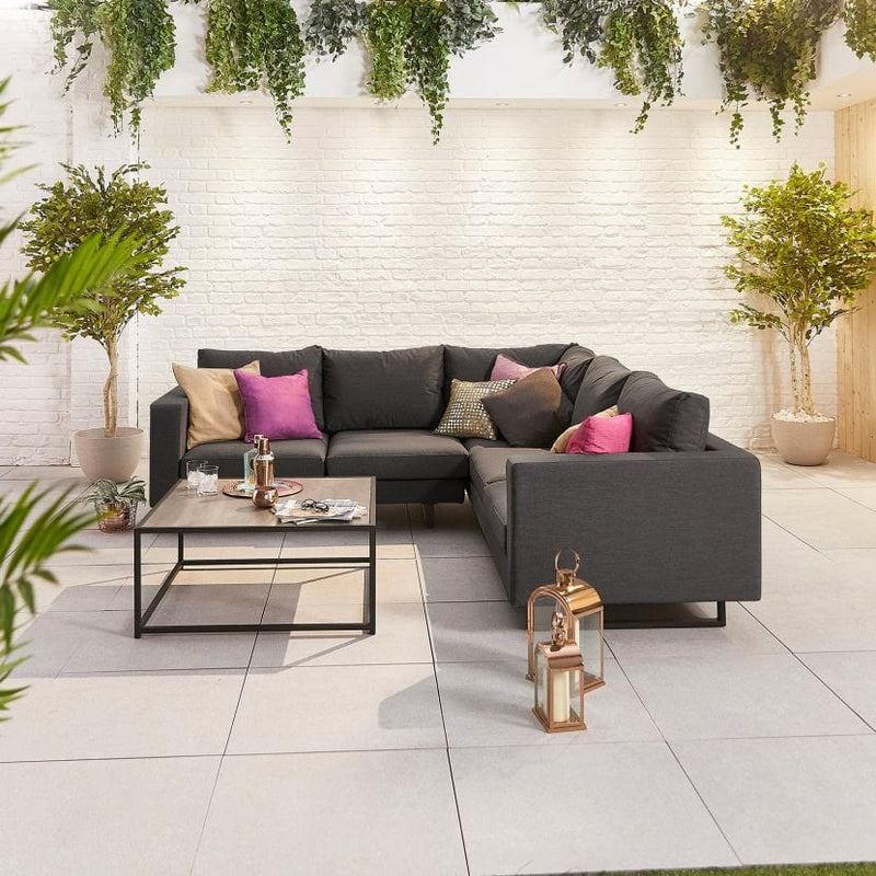 Pre-Order: Eden Outdoor Fabric Corner Sofa Set with Coffee Table - TALOR Garden Furniture