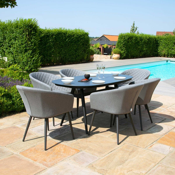Ambition 6 Seat Oval Dining Set - TALOR Garden Furniture