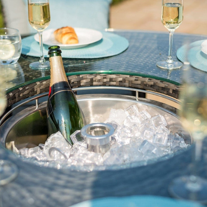 Pre-Order: Texas 6 Seat Round Ice Bucket Dining Set with Lazy Susan - TALOR Garden Furniture