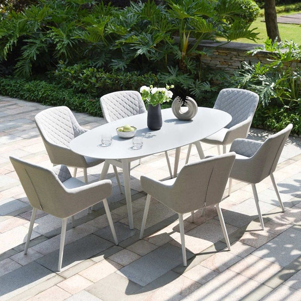 Zest 6 Seat Oval Dining Set - TALOR Garden Furniture
