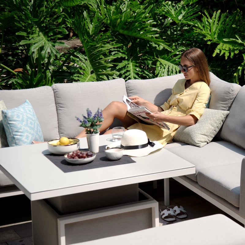 Pre-Order: Pulse Square Corner Dining Set with Rising Table - TALOR Garden Furniture