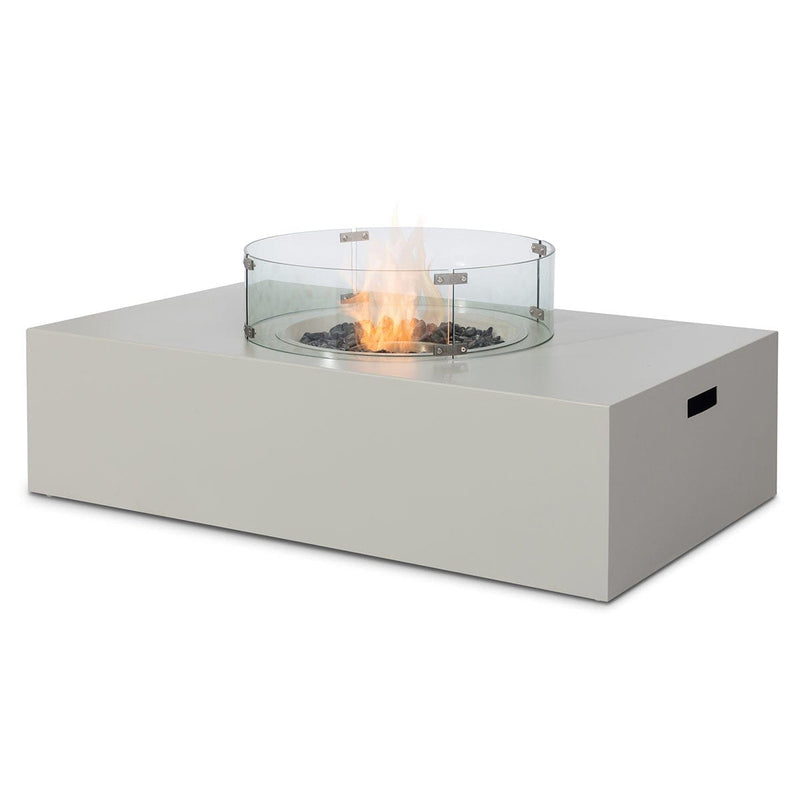 Pre-Order: Rectangular Gas Fire Pit - Pebble White - TALOR Garden Furniture