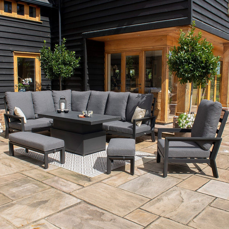 Pre-Order: Manhattan Reclining Corner Dining Set with Rising Table and Armchair - TALOR Garden Furniture