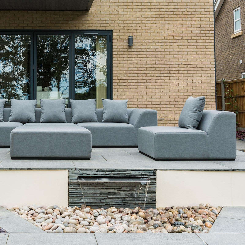 Pre-Order: Buddha Outdoor Fabric Sofa Set - Light Grey - TALOR Garden Furniture