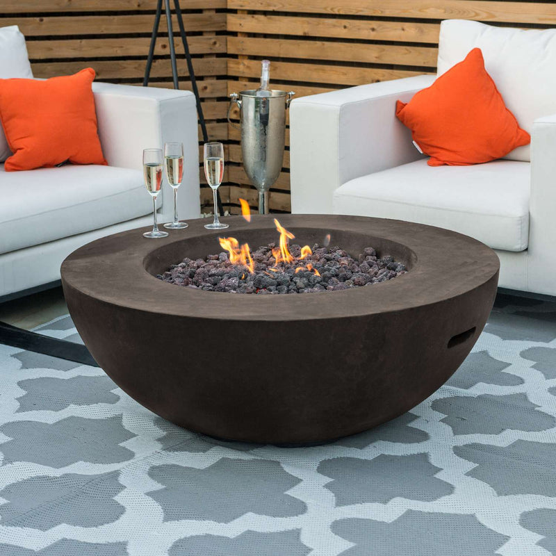 Pre-Order: Brisbane Round Gas Fire Bowl - TALOR Garden Furniture