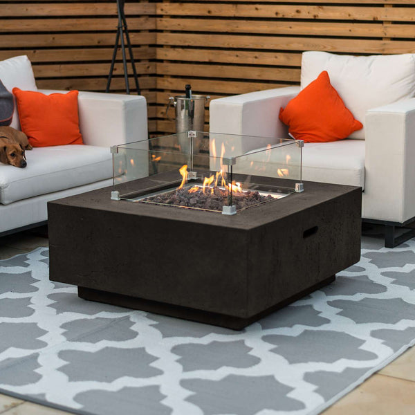 Pre-Order: Albany Square Gas Firepit Coffee Table - TALOR Garden Furniture