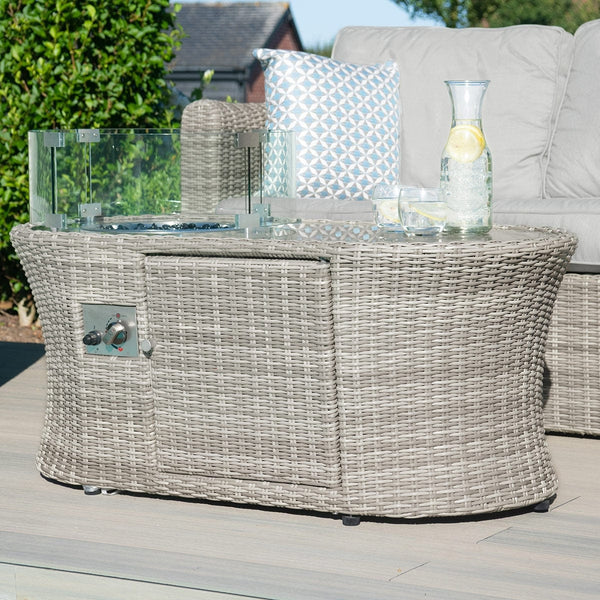 Pre-Order: Oxford Oval Fire Pit Coffee Table - TALOR Garden Furniture
