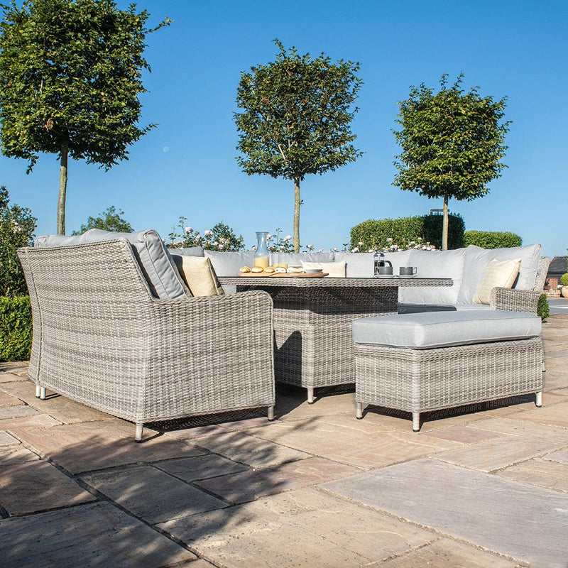 Pre-Order: Oxford Royal U Shaped Sofa Set with Rising Table - TALOR Garden Furniture