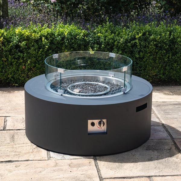 Pre-Order: Round Gas Fire Pit - Charcoal - TALOR Garden Furniture