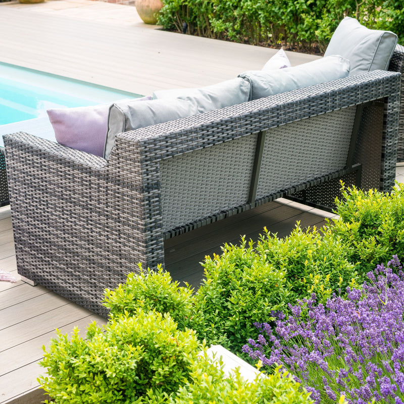 Seville Rattan Sofa Set - Grey - TALOR Garden Furniture