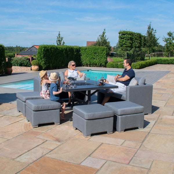 Pre-Order: Fuzion Cube Sofa Set with Fire Pit - TALOR Garden Furniture