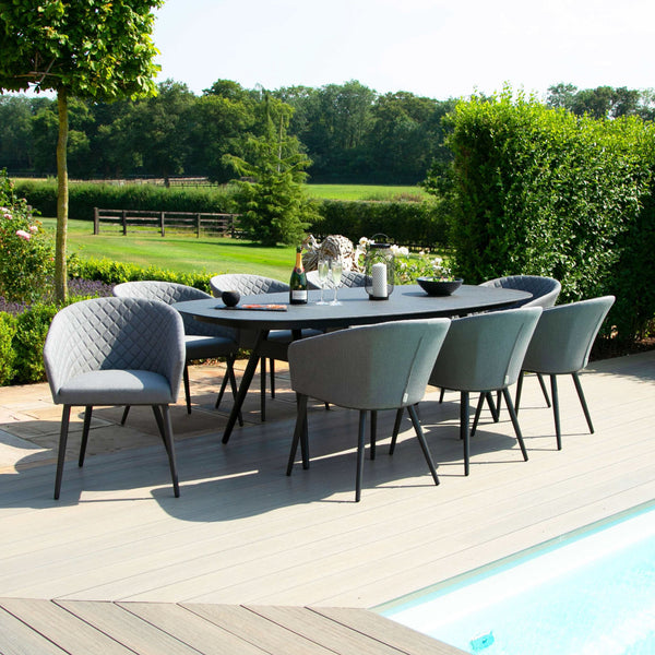 Ambition 8 Seat Oval Dining Set - TALOR Garden Furniture
