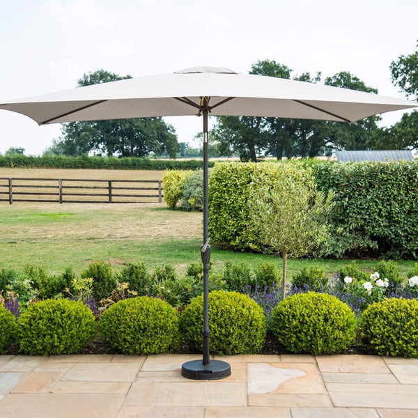 Pre-Order: 3m x 2m Rectangular Parasol - Grey - TALOR Garden Furniture