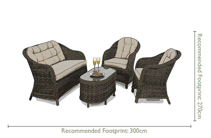 Pre-Order: Winchester Heritage Rounded Rattan Sofa Set - TALOR Garden Furniture