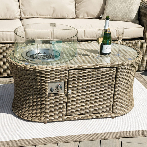 Pre-Order: Winchester Oval Fire Pit Coffee Table - TALOR Garden Furniture
