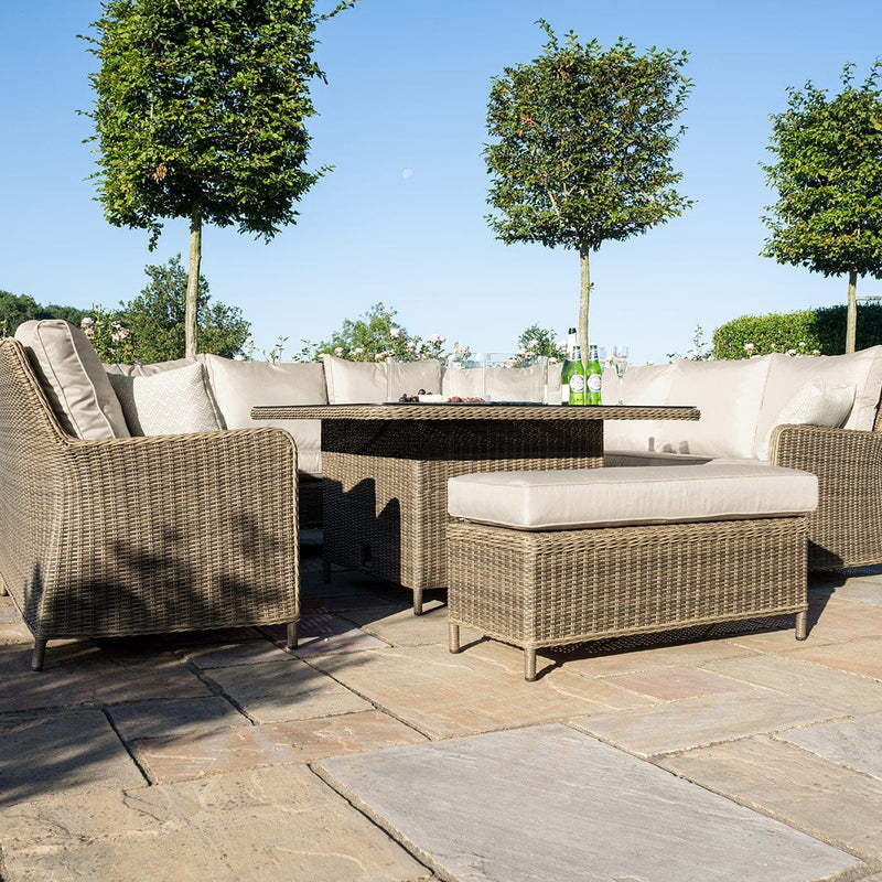 Pre-Order: Winchester Royal U Shaped Sofa Set with Fire Pit Table - TALOR Garden Furniture