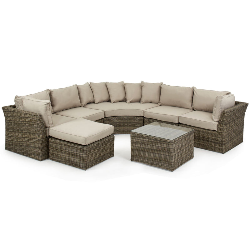 Pre-Order: Winchester Rounded Rattan Corner Group - TALOR Garden Furniture