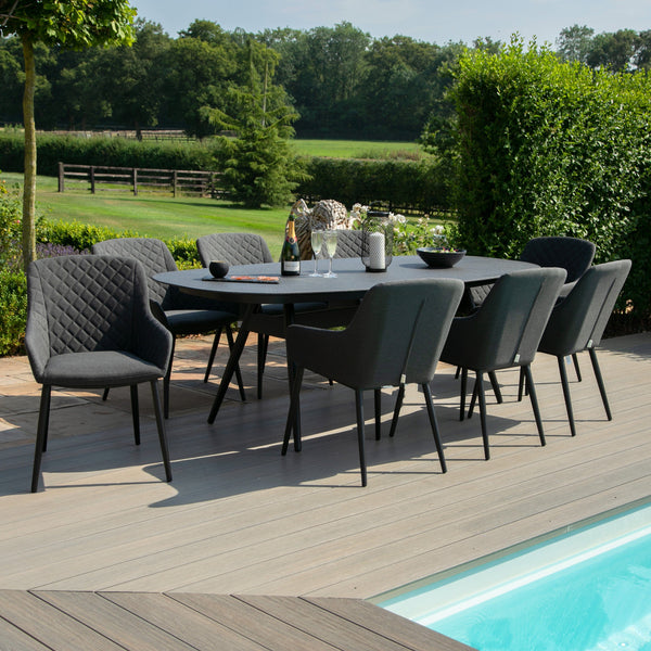 Zest 8 Seat Oval Dining Set - TALOR Garden Furniture