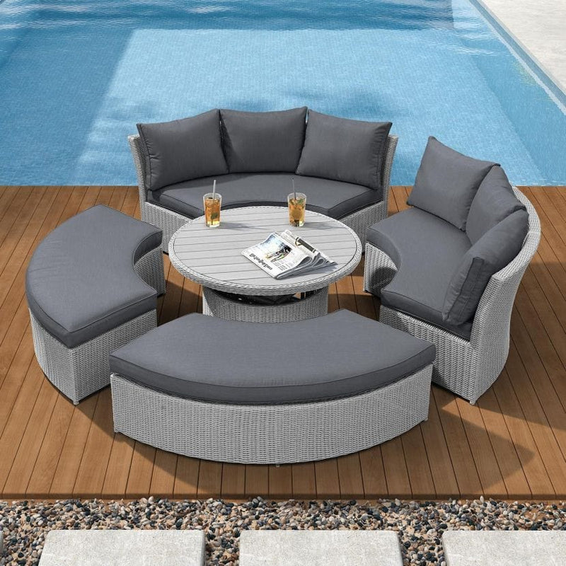 Pre-Order: Windsor Sofa Daybed with Rising Table - TALOR Garden Furniture
