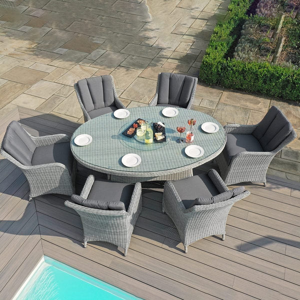 Pre-Order: Ascot 6 Seat Oval Rattan Dining Set - TALOR Garden Furniture