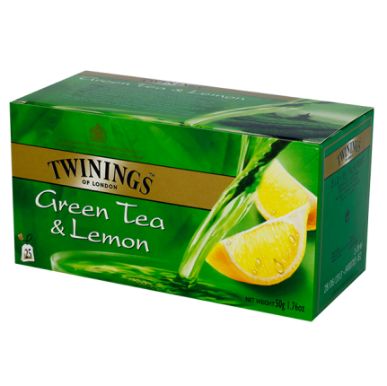 Twinings Green Tea & Lemon Tea 25'S
