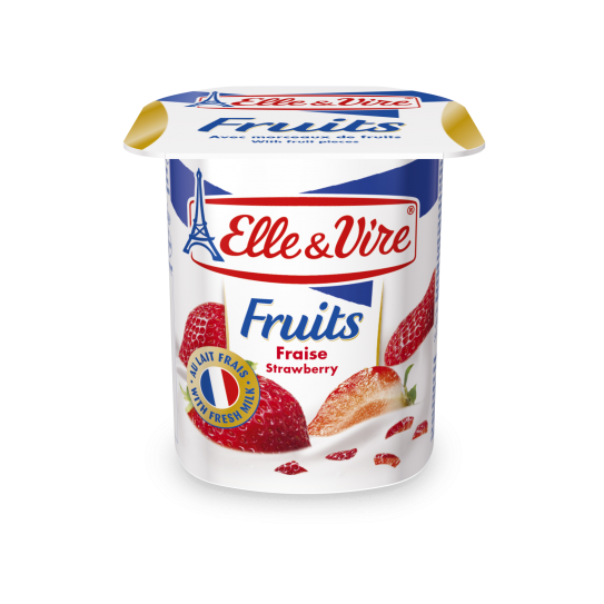 Elle & Vire Yoghurt Strawberry 125 gr