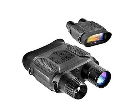 Digital Night Vision Binoculars 7x31mm-400m/1300ft Viewing Range and Super Large 4'' Viewing Screen Infrared Scope in Full Dark (Black)
