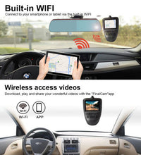Load image into Gallery viewer, Driving Dash Cam Pro Camera, NOAUKA Car Front Dash Recorder Camera 4 Lanes, Driving Dvr Cam with WiFi, Sony Cmos Video Sensor, Loop Recording, G-sensor, Invisible Design