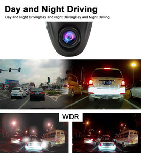 Driving Dash Cam Pro Camera, NOAUKA Car Front Dash Recorder Camera 4 Lanes, Driving Dvr Cam with WiFi, Sony Cmos Video Sensor, Loop Recording, G-sensor, Invisible Design