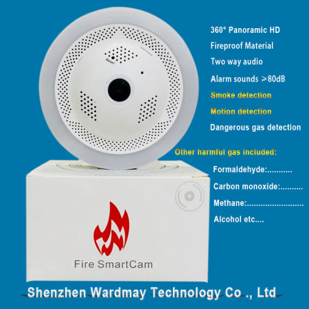 Fire Smoke Alarm Network CCTV Security WiFi IP Camera