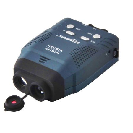 Night Vision Monocular, Blue-Infrared Illuminator Allows Viewing in The Dark - Records Images and Video