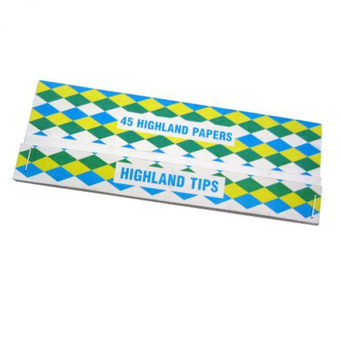 Highland Giant Size Rolling Paper & Tips by en-ex