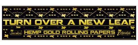 Turn Over A New Leaf Rolling Papers - Hemp Gold Edition Rolling Papers by en-ex