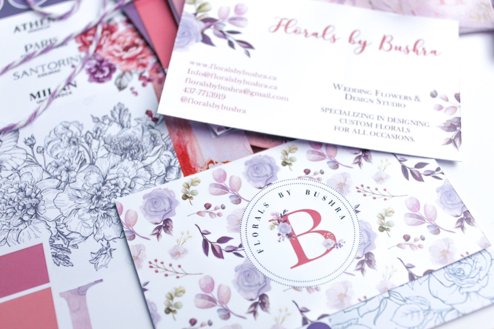 Logo and Branding for Florals by Bushra (Canada)