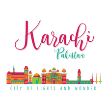 Load image into Gallery viewer, Karachi Skyline Magnet - Firefly
