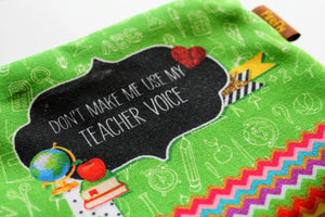 Teacher Voice Zipper