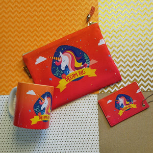 Dream Big Unicorn Bundle Orange and Pink