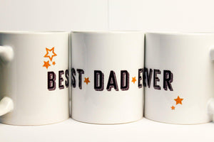 Best Dad Ever Stars Mug