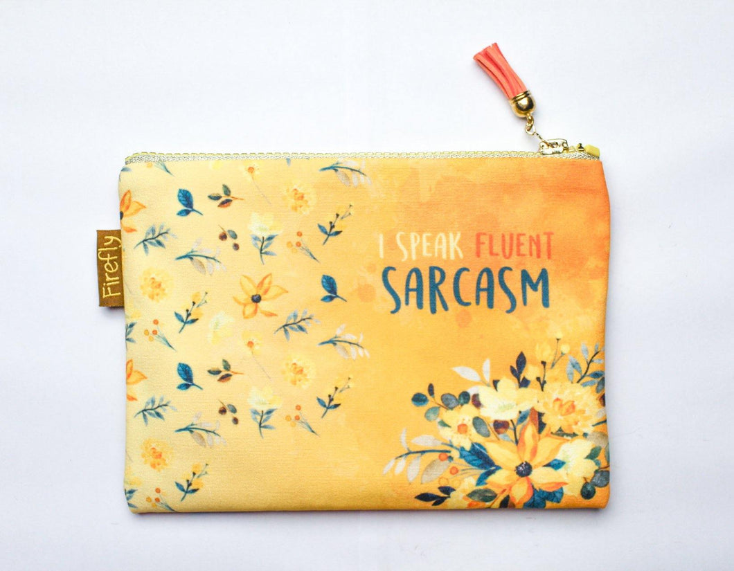 Fluent in Sarcasm Zipper - Firefly
