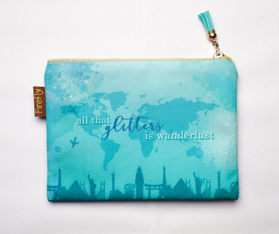 All that Glitters is Wanderlust Zipper - Firefly