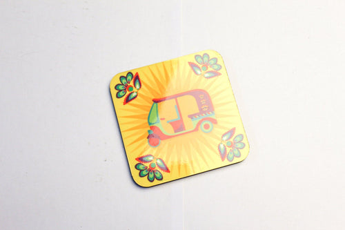 Yellow Retro Rikshaw Coaster - Firefly