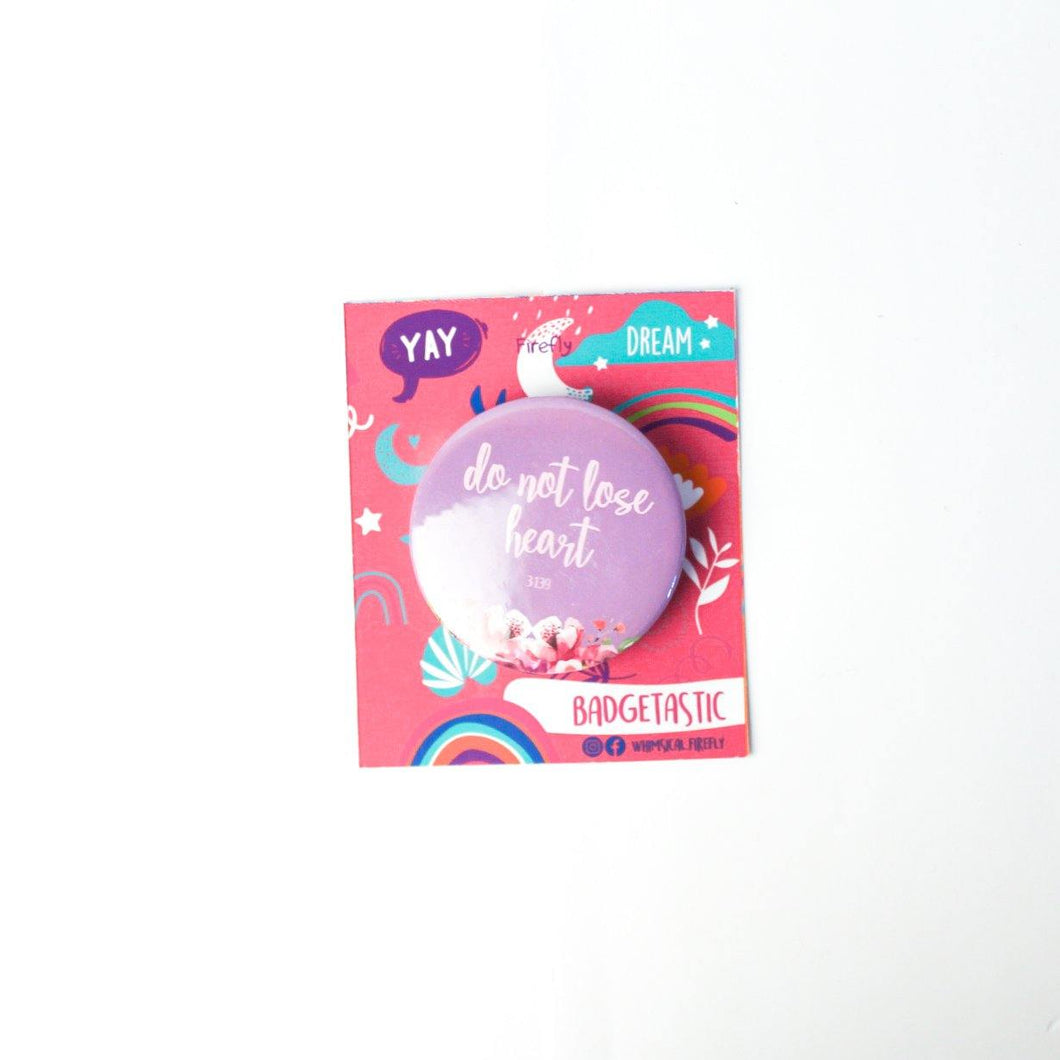 Do not lose Heart Badge