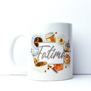 Caffeine - Watercolor Washes Mug
