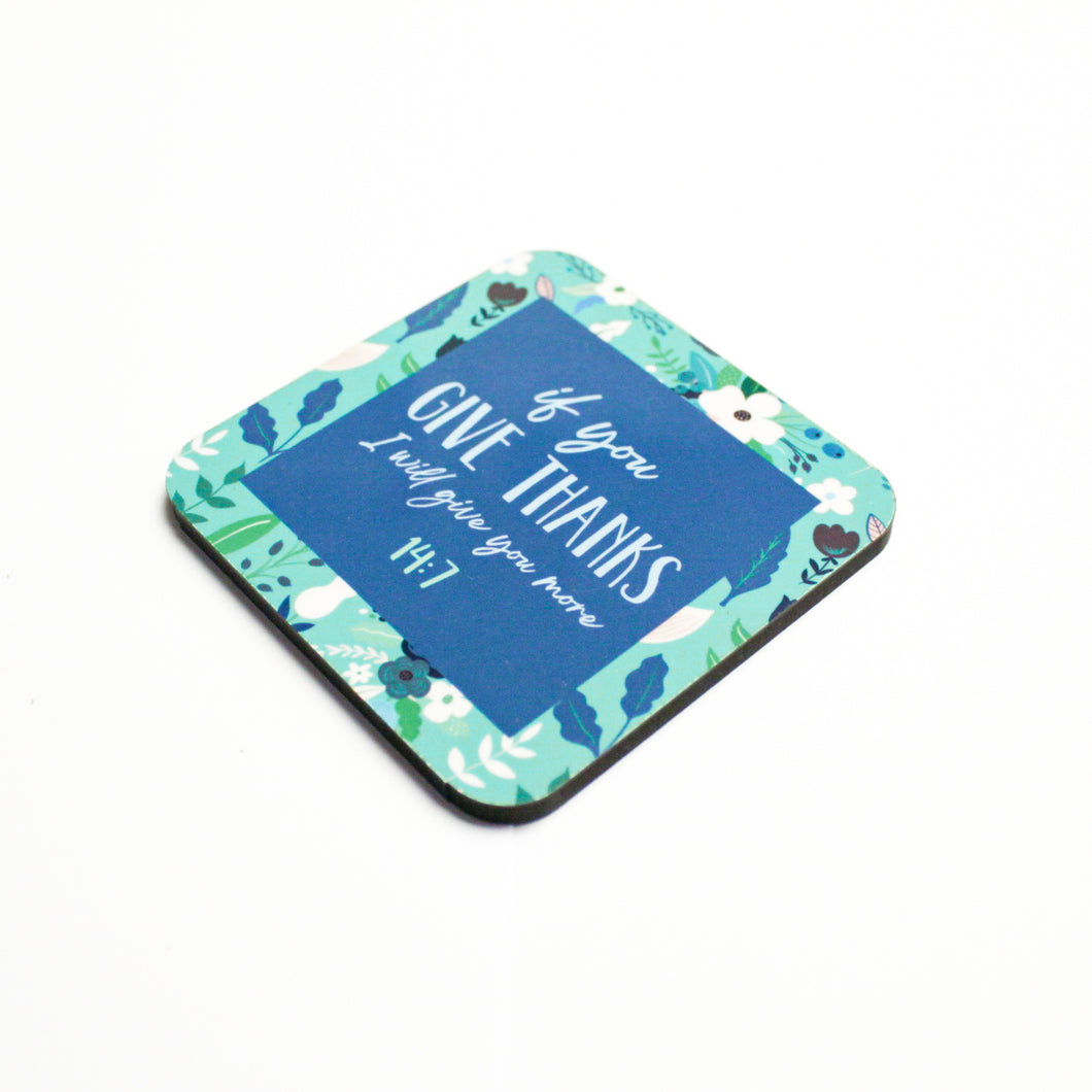 If You Give Thanks Coaster