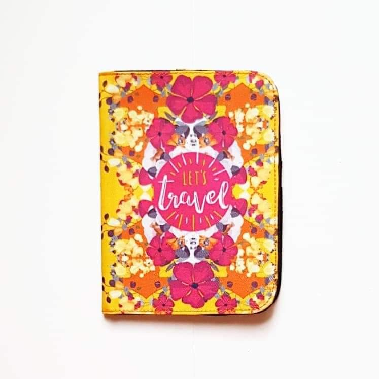 Let's Travel Passport Cover - Firefly