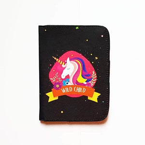 Wild Child Unicorn Passport Cover