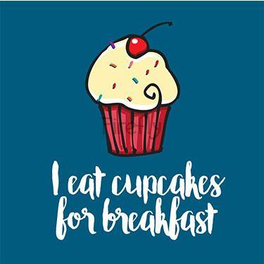 Cupcakes for Breakfast Magnet